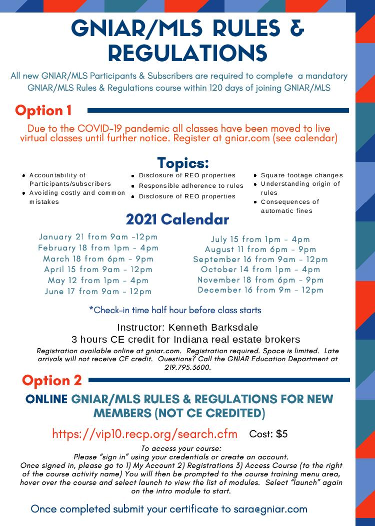 2021 MLS Rules and Regulations VIRTUAL Flyer page 001