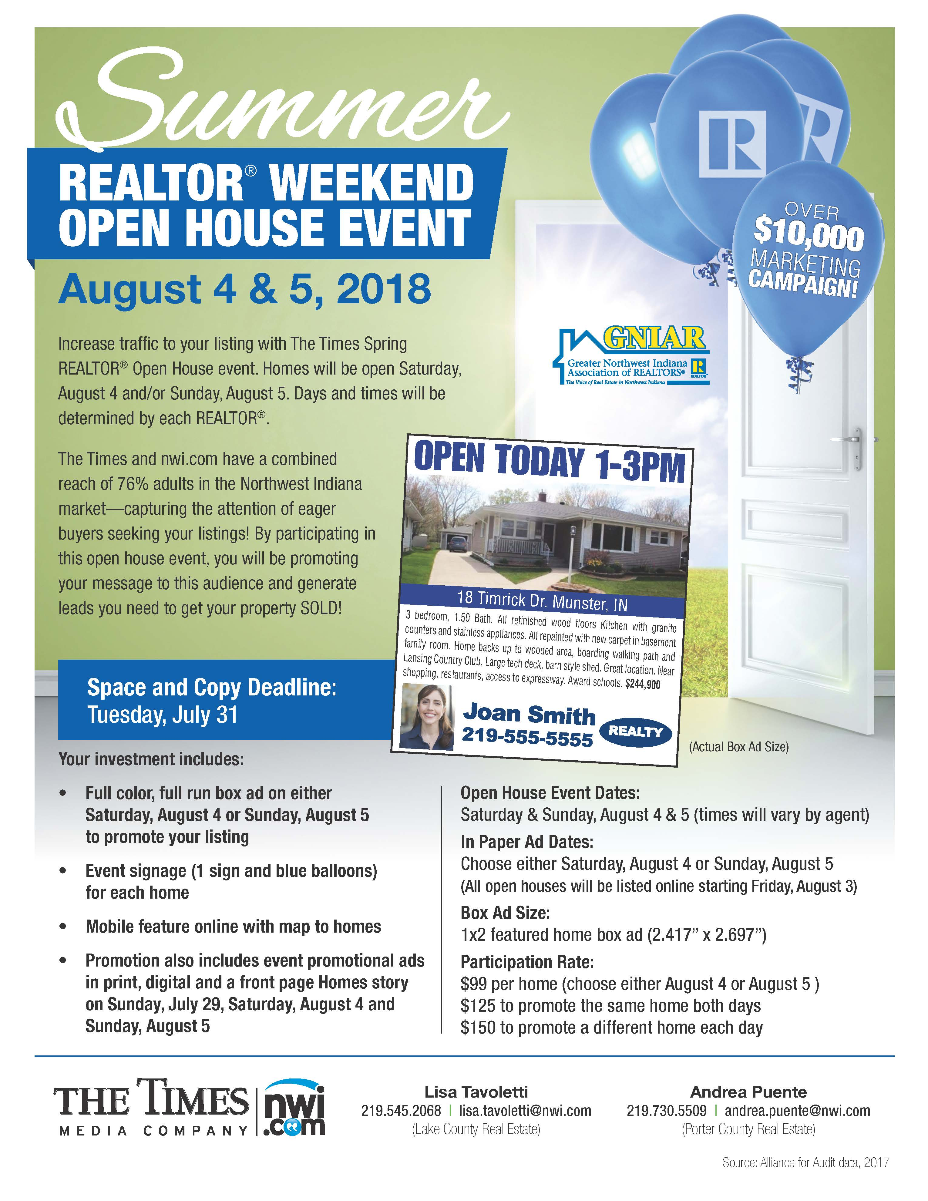 SummerRealtorOpenHouse Collateral 2018